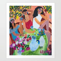 Buy with the girls Art Print by analeovy. Worldwide shipping available at Society6.com. Just one of millions of high quality products available.