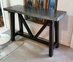 Console Side Zinc Table by Barrio Antiguo Designs Tv Sideboard, Table, Sideboard Console, Furniture, Zinc Table, Sideboard Table, Home Decor, Table Furniture, Entryway Tables