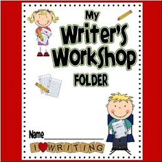 Writer's Workshop Folder: This file contains everything you need to make writer's workshop folders for your class- with extras! These handy folders will help students keep their writing organized through every step of the writing process.