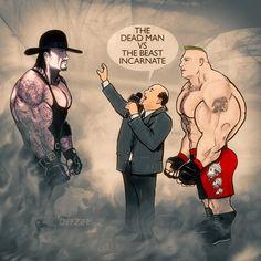 The Dead Man vs The Beast Incarnate #lesnar #undertaker #wwe #wrestling