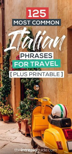Buying tickets to the Colosseum or a gelato in Naples? You NEED this guide with pronunciation tips & printable of essential Italian phrases for travellers! Italy Travel Tips, Rome Travel, Travel Europe, Travel Destinations, Italian Phrases, Italian Language, English Language, Learning Italian, Going On Holiday
