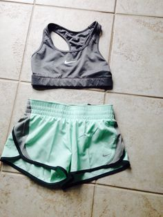 Gray and mint Nike