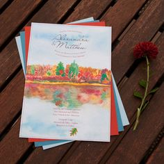 Custom Watercolor wedding invitations that reflect the organic essence of life.