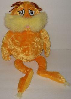 "Dr Seuss Kohls The Lorax 16"" Plush Cares Stuffed Animal Gold Doll Movie…"