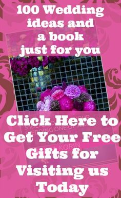 Get 100 wedding ideas to plan the wedding you want plus a free ebook with 15 simple to DIY ideas to inspire you that also fit any wedding theme.