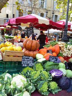 The colorful market of Aix en Provence, France.