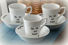 """La vie est belle"" breakfast set"