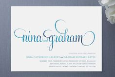 Hip Swish Wedding Invitations by stacey day | Minted