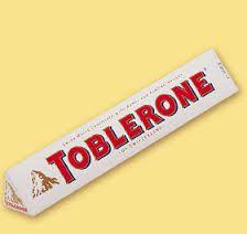 toblerone white chocolate bar