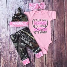 Baby Girls Coming Home Outfit Camo Leggings Hat and Headband Pink with White Lace Little Girls Country Outfit Pink Bodysuit Camo Leggings, Baby Girl Leggings, Baby Outfits, Little Girl Outfits, The Babys, Camouflage Baby, Bitty Baby, Baggy Pullover, Baby Girls