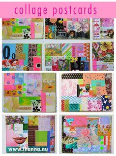 Collage Postcards by @iHanna for the DIY Postcard Swap Fall 2015 #diypostcardswap #mailart