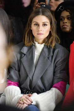 Olivia Palermo attends the Taoray Wang fashion show during New York Fashion Week The Shows at Gallery II at Spring Studios on February 10 2018 in New...