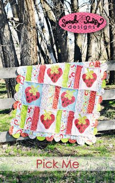 ADORABLE pick me strawberry quilt pattern