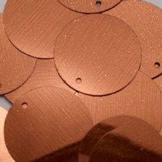 20mm Metallic Bronze Sequins x 85