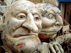 Bildergebnis für set of old papier mache puppets Paper Mache Mask, Paper Mache Sculpture, Sculpture Art, Clay Sculptures, Paper Mache Projects, Paper Mache Crafts, Art Projects, Mascara Papel Mache, Paper Dolls