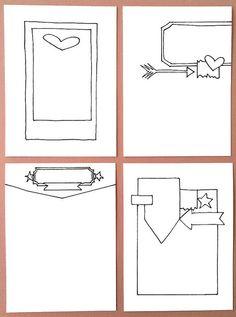 Citrus Twist Kits - Project Life sketches by Jen Boumis Project Life Travel, Project Life 6x8, Project Life Layouts, Project Life Cards, Scrapbook Patterns, Scrapbook Sketches, Card Sketches, Diy Scrapbook, Life Sketch