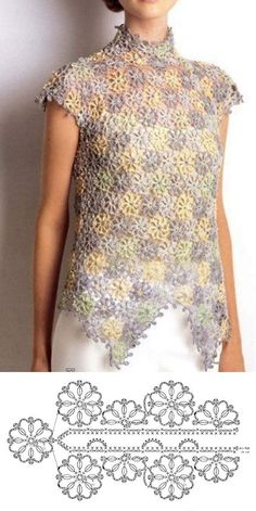 +11 modelos e ponto de crochê para blusas