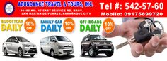 Abundance Rent a Car ( Travel Tours, Manila, Embedded Image Permalink, Abundance, Transportation, San