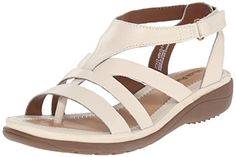 Hush Puppies Womens Maben Keaton Wedge Sandal Off White Leather 75 E US >>> Check out the image by visiting the link.