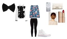 """""""winter"""" by pizzalove123 on Polyvore featuring RED Valentino, Converse, Charlotte Tilbury, Kerastase and claire's"""