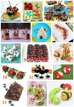 15 Adorable Bug Snacks and treats roundup_bugfood