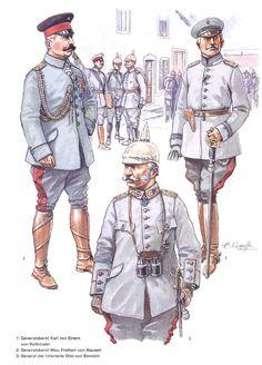 German uniforms WWI.