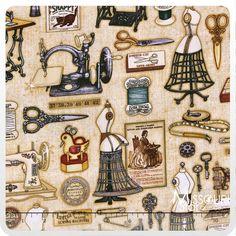 Seams Like Old Times - Dressmaker Neutral Yardage from Missouri Star Quilt Co. Dan Morris for RJR Fabrics. SKU:  1615-001  $9.95 yd.