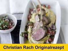 Hier finden Sie das exklusive Christian Rach Originalrezep: Lammkarree mit Kichererbsenpürree und Tomatensalsa!