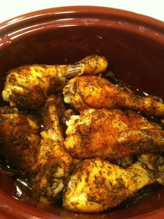 Sticky Drumsticks in Slow Cooker - tasty simple meal