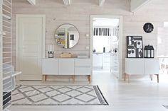 Annon Jalpaikka wool rug, designed by Susanna Vento LUNDIA Fugue - All What I am Living Room Modern, Home Living Room, Decor Interior Design, Interior Decorating, Home And Deco, Scandinavian Interior, Home Fashion, Interior Inspiration, New Homes