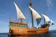 The Matthew of Bristol, a replica of the caravel in which John Cabot sailed to Newfoundland in 1497. (Photo from the BBC.)
