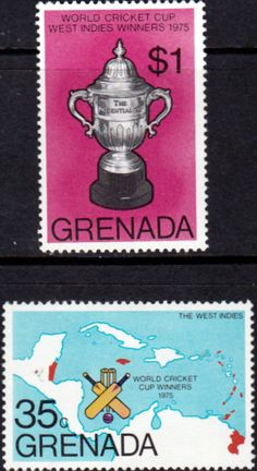 Grenada 1976 Cricket Set Fine Mint SG 816 7 Scott 747 8 Other West Indies and British Commonwealth Stamps HERE!