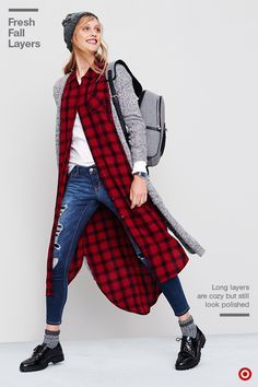 target ad with plaid duster - Google Search