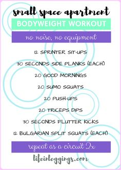 Small Space Apartment Workout