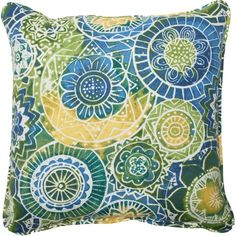 Omnia Indoor/Outdoor Throw Pillow (Set of Outdoor Cushions, Outdoor Throw Pillows, Decorative Throw Pillows, Gazebo Decorations, Turquoise Cushions, Cushion Fabric, Perfect Pillow, Throw Pillow Sets, Joss And Main