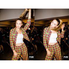 Backstage at Jeremy Scott's fashion show ❤