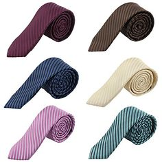 DANF0045 Multicolors Polyester 5cm-width Slim Ties Various Series Skinny Ties 5 Styles Available Friendship Style By Dan Smith