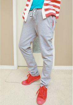 Wholesale Personality & Modern Mixed colors Tieback Long Pants----Gray top dresses