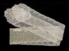 1800-1830 net tippet. Killerton Fashion Collection © National Trust / Sophia Farley and Renée Harvey
