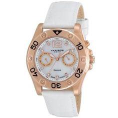 Akribos Xxiv Quartz Diamond Multifunction Watch #AKR483WT (Women Watch). Please Visit us at the following URL: http://www.bodying.com/akribos-xxiv-quartz-diamond-akr483wt/watches/65410