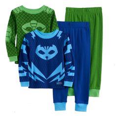 Gekko /& Owlette Boys PJ Masks Jogger Set 1 Long Sleeve Tee /& 1 Pant PJ Masks Featuring Catboy Owlette Combo Set