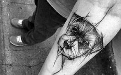 Si eres amante de los perros y los tatuajes esto es para ti vía @zumbynews #origami #by #Hoy #Zumby #NellaBisuTej