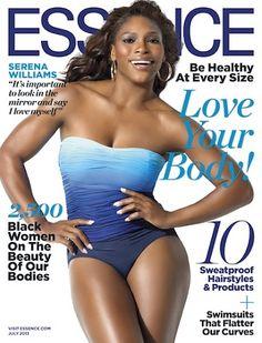Serena Williams Shows Off Her Curves In Essence Serena Williams Bikini, Venus And Serena Williams, Queen Latifah, Oprah Winfrey, Khloe Kardashian, Marie Claire, Vanity Fair, Divas, Essence Magazine