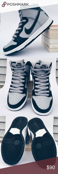 Men's Nike Dunk High Premium SB Men's Nike high top dunks in a size 7.5 (euro 40.5). Georgetown edition of Rival Pack released in 2014. Worn once indoors. Black laces available. Nike Shoes Sneakers