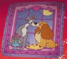 Disney Lady Tramp Blanket Hand Tied Fleece by Scrunchiesbysherry, $55.00