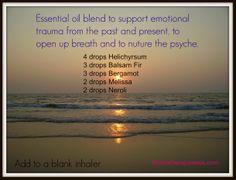 Emotional support essential oil blend.
