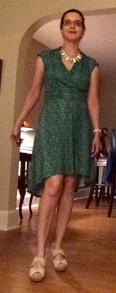 Stitch Fix dress, Le Tote necklace, Earthies shoes