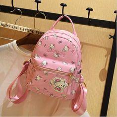 Hello Kitty Children School Bags For Girls Hello Kitty Girl School Bag Waterproof Primary Backpack Kid Bag Lovely Baby Bag PU