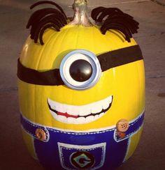 2014 evil minion pumpkin from despicable me 2 minion pumpkin project pinterest minions pumpkins and despicable me