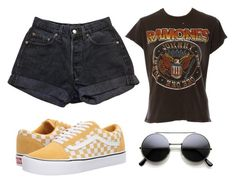 A fashion look from March 2018 featuring cotton t shirts, denim shorts and skate shoes. Browse and shop related looks. Ramones, Skate Shoes, Denim Shorts, Boards, Fashion Looks, Vans, My Style, Polyvore, Cotton